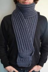 echarpe-crochet-bleu